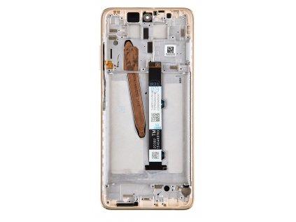 LCD Display + Dotyková Deska + Přední Kryt pro Xiaomi Mi 10T Lite Rose Gold Beach