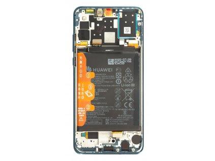 Huawei P30 Lite 2020 New Edition LCD Display + Dotyková Deska + Přední Kryt Blue (pro 48MP foto) (Service Pack)