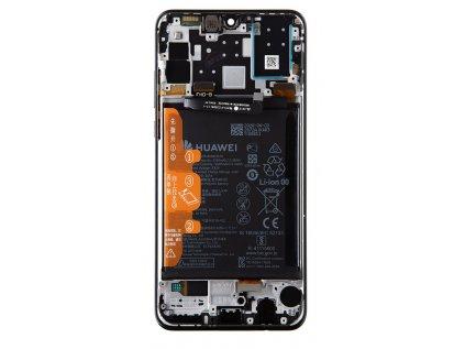 Huawei P30 Lite 2020 New Edition LCD Display + Dotyková Deska + Přední Kryt Black (pro 48MP foto) (Service Pack)