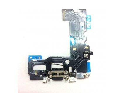 Nabíjecí konektor iPhone 7 flex včetně mikrofonu Black