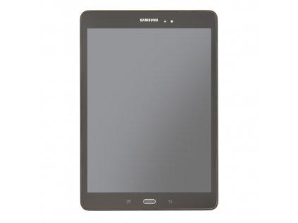 LCD display + Dotyk + Přední kryt Samsung T550 Galaxy TAB A 9.7 Black (Service Pack)