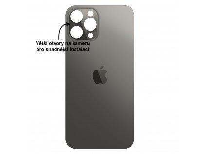 iPhone 12 pro zadni sklo cerna