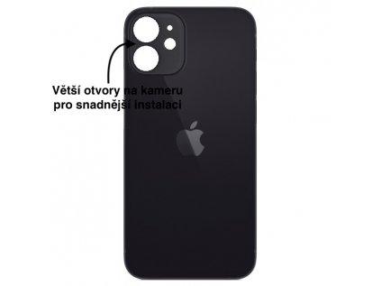 iPhone 12 mini zadni sklo cerna
