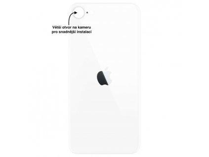 iPhone SE2020 zadni sklo bila