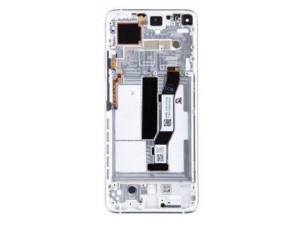 LCD Display + Dotyková Deska + Přední Kryt pro Xiaomi Mi 10T / Mi 10T Pro Silver (Service Pack)