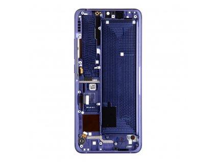 LCD Display + Dotyková Deska + Přední Kryt pro Xiaomi Mi Note 10 Lite Bluish Violet (Service Pack)