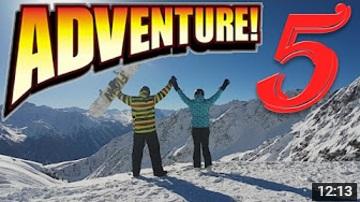 Zimní dovolená natočená mobilem 2017