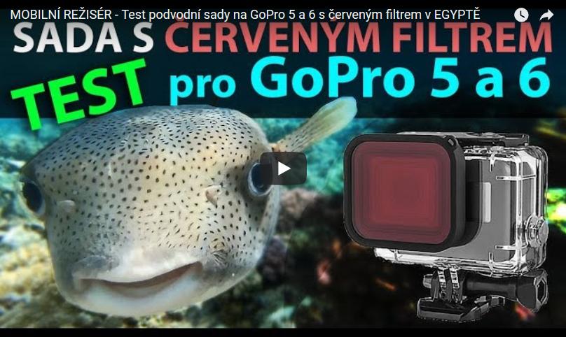 Test podvodní sady na GoPro 5 a 6 s červeným filtrem v EGYPTĚ