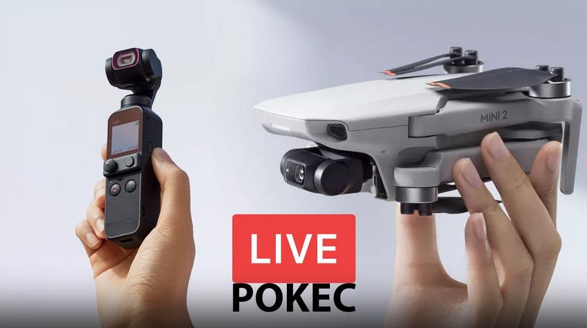 LIVE pokec o DJI novinkách - Pocket 2 a Mini 2