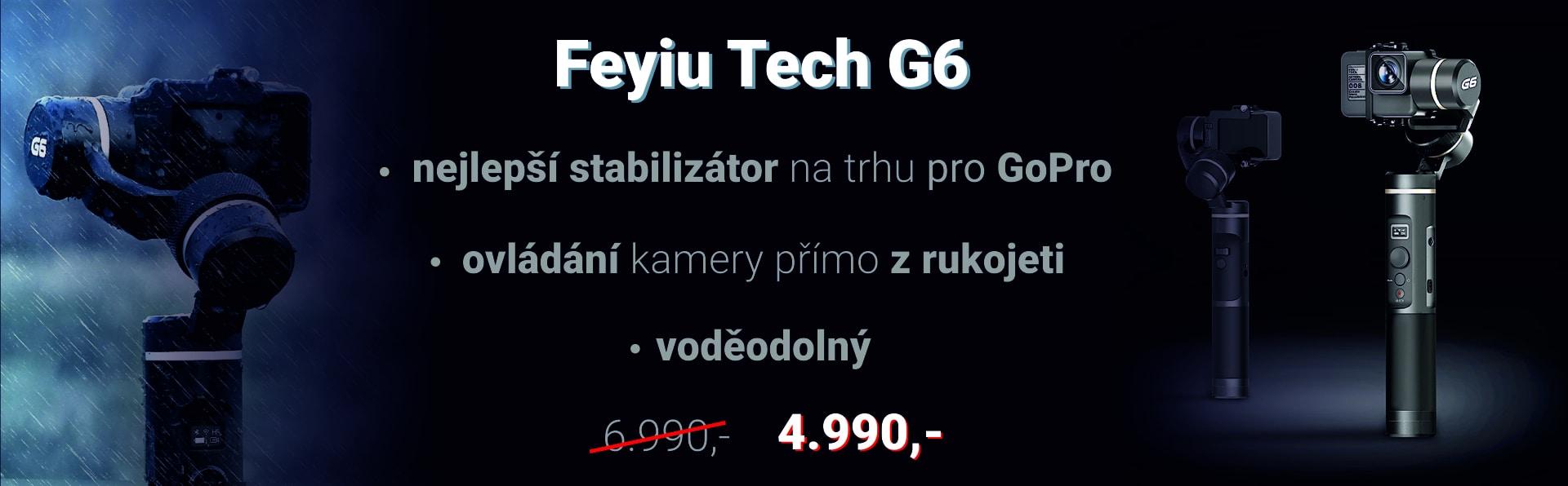 Feyiu Tecg G6 - nejlepší stabilizátor na trhu pro GoPro, voděodolný, s ovládáním kamery přímo z rukojeti