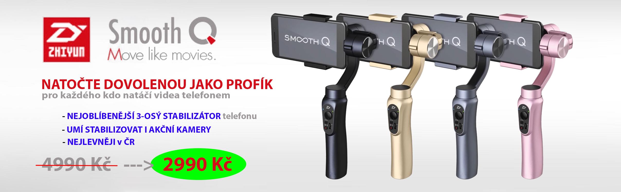 Nový král mezi dostupnými Gimbaly (Stabilizátor telefonu) - Zhiyun Tech Smooth Q