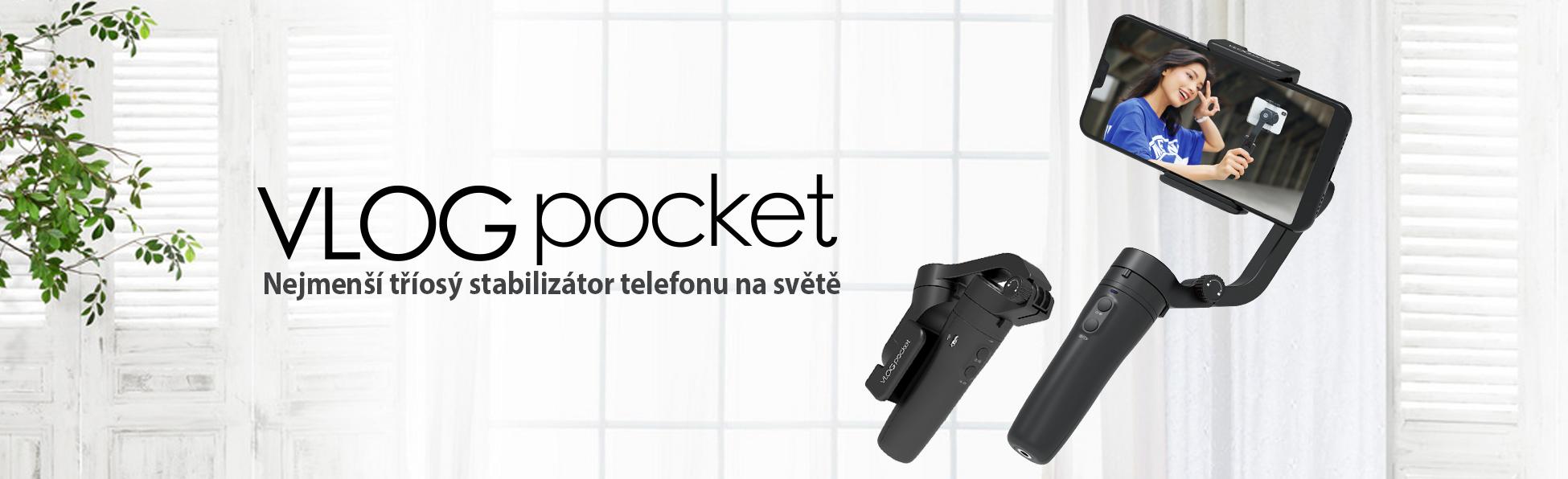 Feiyu VLOG Pocket - nejmenší 3 osý stabilizátor mobilu na světě