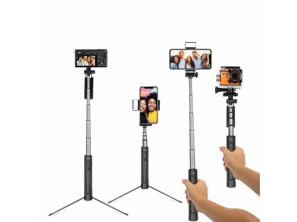 Profi bluetooth selfie tyč se stativem Luxury 3 1