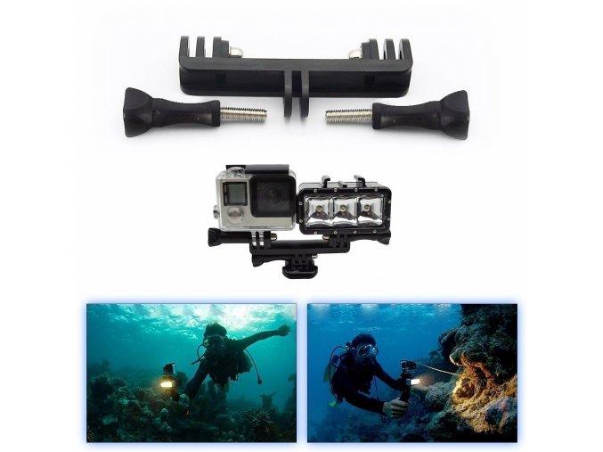 Držák dvou akčních kamer 1