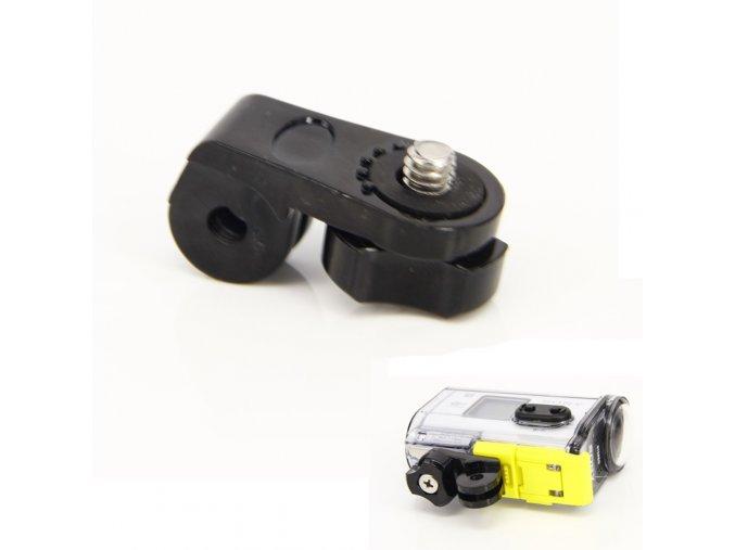 Adaptér z GoPro trojzubce na standartní foto závit plochý 4