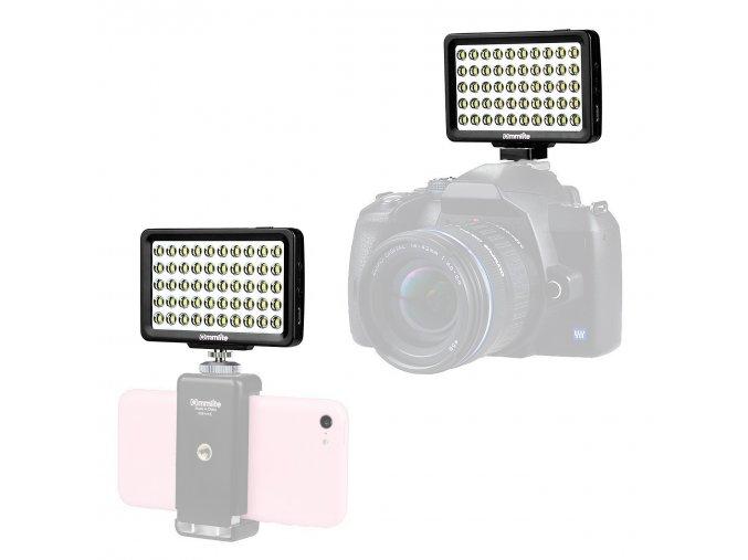 Malé výkonné dobíjecí LED světlo na DSLR, kameru nebo mobil 1 1