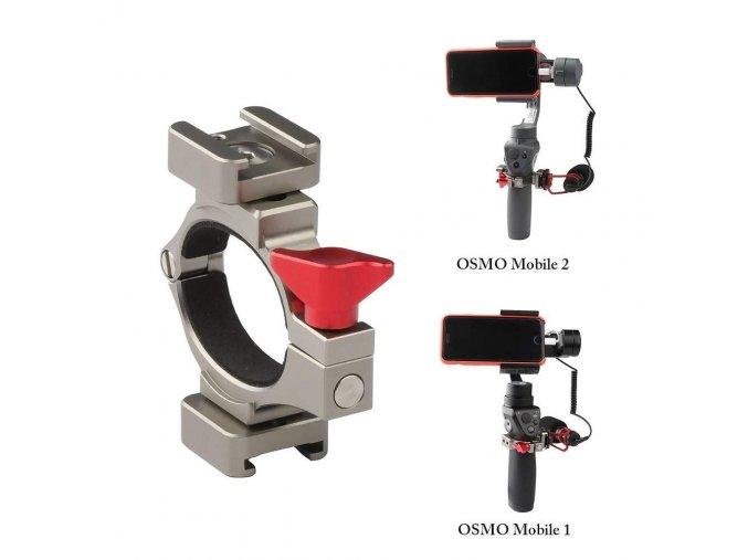 Objímka pro montáž mikrofonu a světla na DJI Osmo mobile 2 1