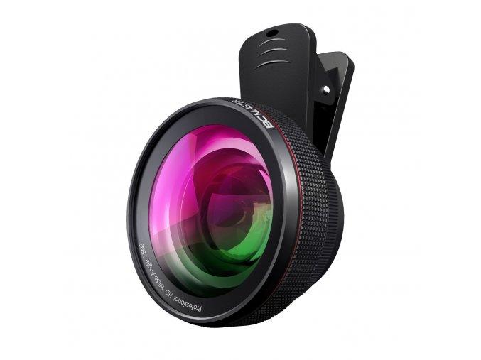 Masivní širokoúhlá čočka Wide Angle 0,45x na mobil pro rozšíření záběru + Makro 15x 1