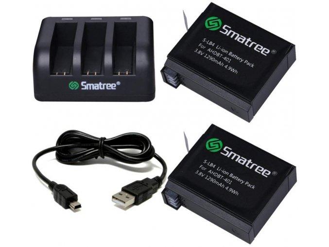 Sada náhradních baterií s nabíječkou Smatree pro GoPro 4 7.jpg