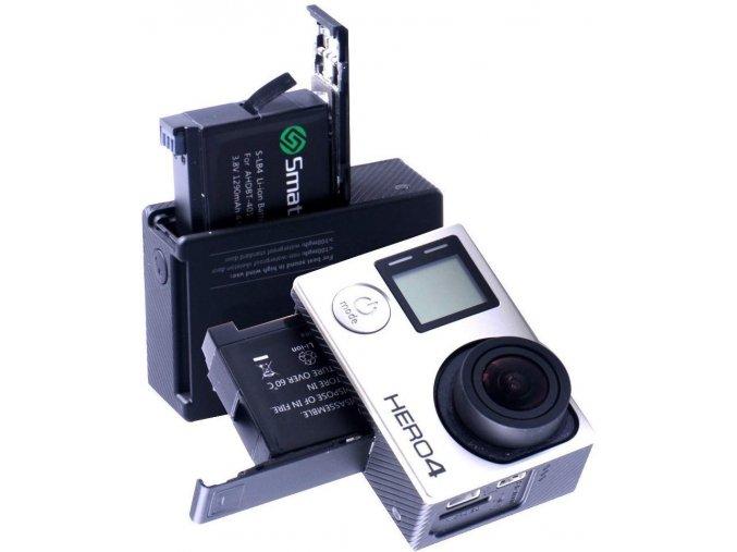 Sada náhradních baterií s nabíječkou Smatree pro GoPro 4 1