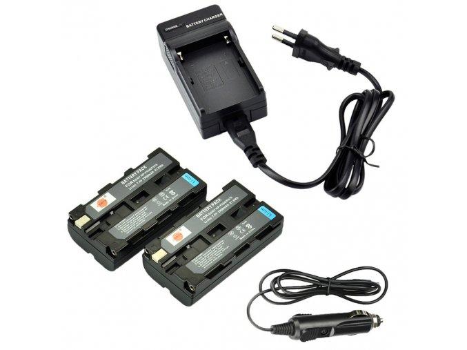 Sada 2 baterií NP F550 s externí nabíječkou do sítě 1