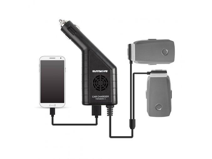 Nabíječka DJI MAVIC 2 baterek do auta, autonabíječka, do zapalovače 1