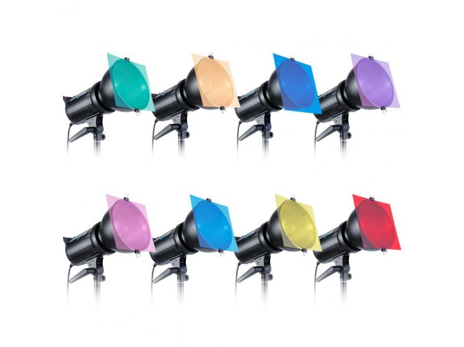Sada 8 barevných gelových filtrů na světla 7