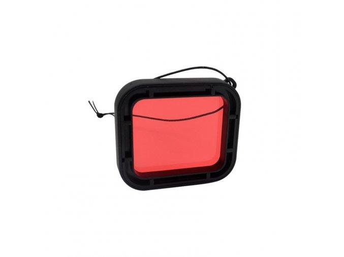 Podvodní kryt (housing obal) na GoPro HERO 5 6 a 7 s červeným filtrem 2