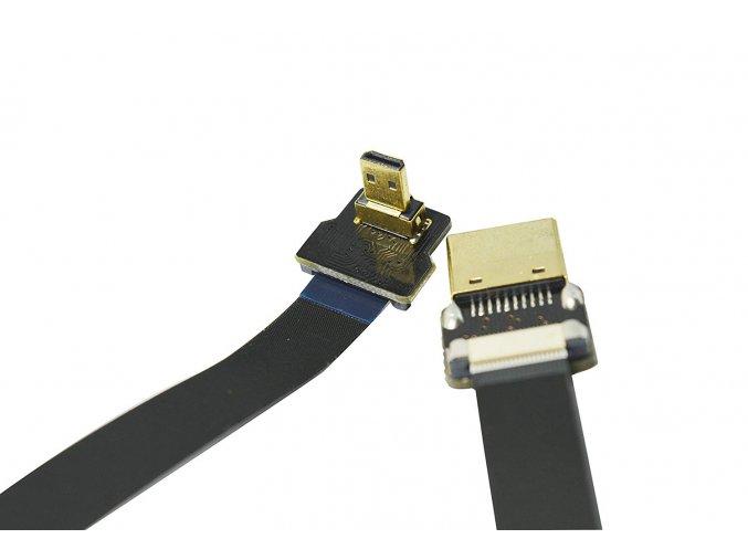 Plochý micro HDMI na HDMI kabel, adaptér, redukce 1