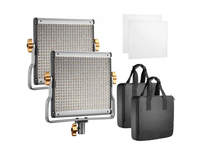 Sada 2 video výkonných studiových světel Neewer 2 x 480 LED s regulací teploty barvy 1