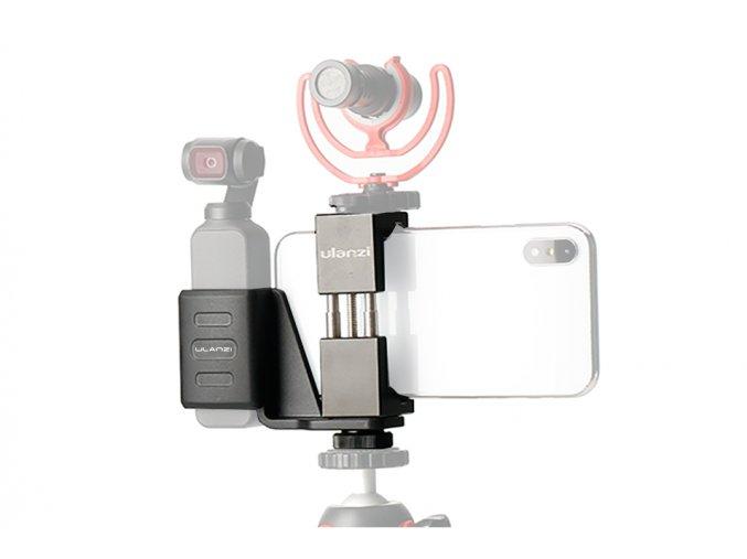 Držák DJI OSMO POCKET s mobilem a mikrofonem na stativ 0