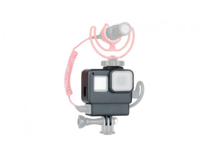 Klec na GoPro 5,6,7, audio adatér i externí mikrofon Ulanzi V2 5