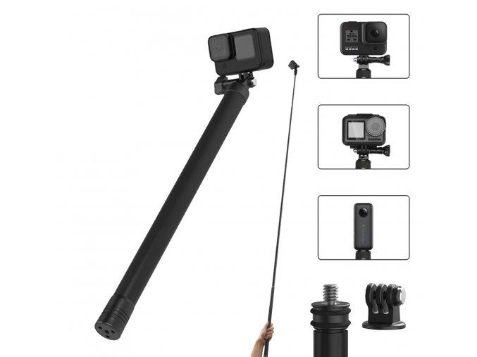 2.7 m dlouhá karbonová selfie tyč pro Insta360 One X a další kamery 4