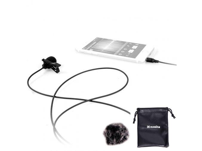 Klopový mikrofon k mobilu, telefonu