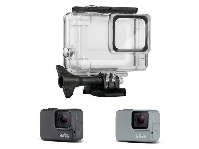 Podvodní kryt (housing obal) na GoPro Hero 7 Silver a White 3