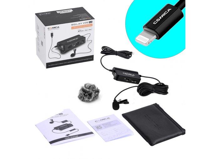674 Aktivní klopový mikrofon pro iPhone, iPad, Lightning CVM V05 MI 00