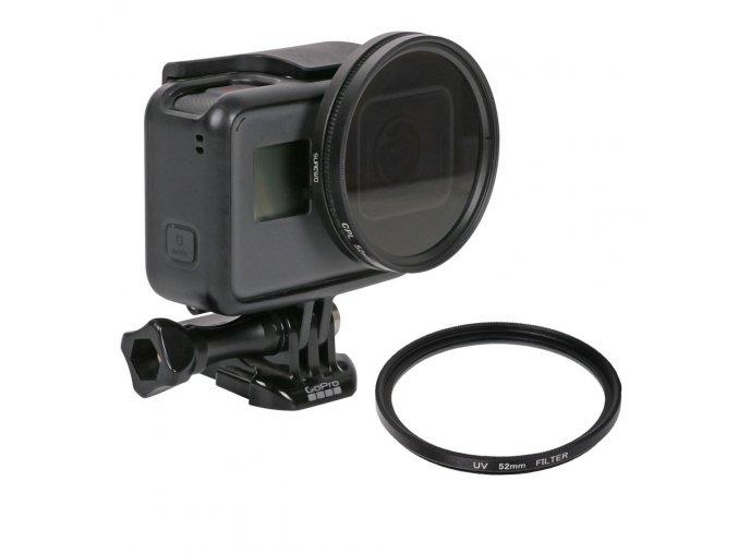 Polarizační CPL filtr 52mm pro GoPro Hero 5,6,7 4
