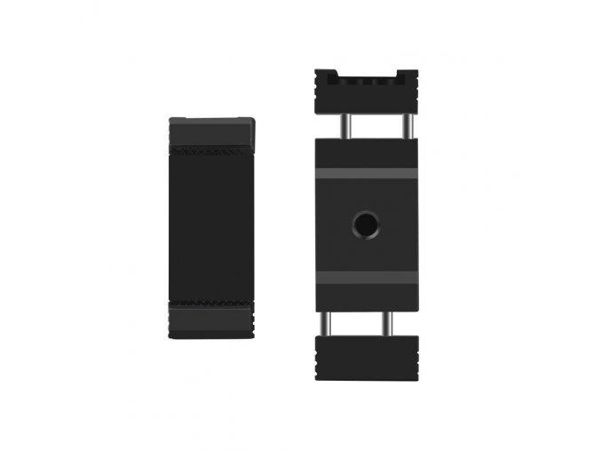 Hliníkový držák telefonu na stativ se sáňkami pro světlo nebo mikrofon Černý