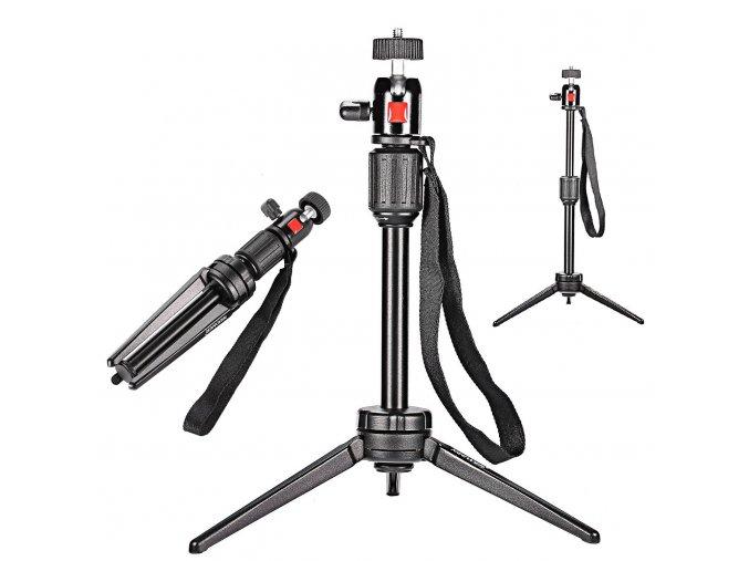 Kvalitní stolní stativ pro kameru, foťák nebo mobil