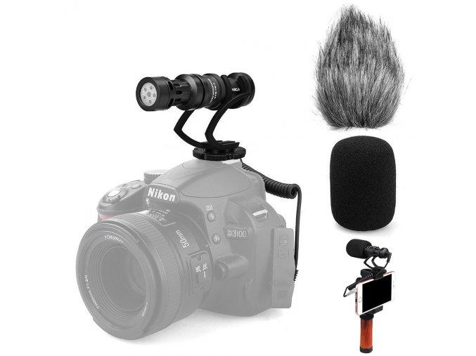 Externí směrový mikrofon comica pro foťák nebo mobil