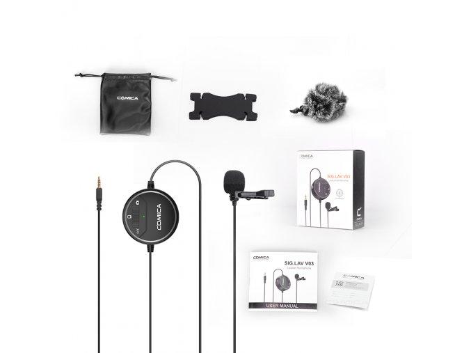 774 Aktivní klopový mikrofon k mobilu i DSLR Comica CVM V03 7