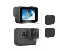 Ochranná sada pro GoPro 5, 6 a Hero tvrzené sklo a krytka čočky 1