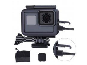 Montážní rámeček na GoPro 5, 6, 7 a Hero s otvorem pro nabíjení 1