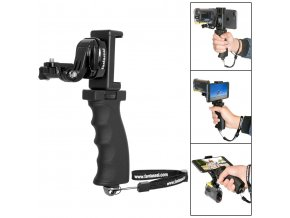 Držák Pistol Grip pro GoPro s telefonem 1