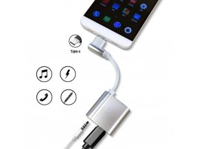 Zalomený adaptér na mikrofon do USB C 1