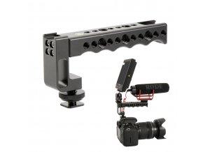 Madlo pro příslušenství do sáněk blesku pro kamery a DSLR