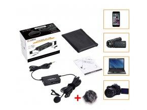 Aktivní klopový mikrofon k mobilu i DSLR COMICA CVM V05 s odposlechem a reg. hlasitosti hlavní 0