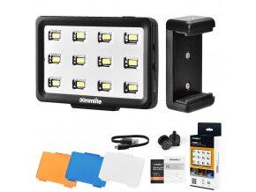 CM PL12 Malé výkonné LED video světlo na mobil i kameru 1