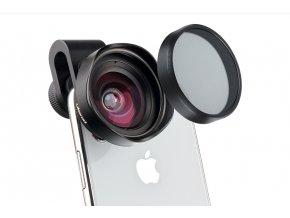 697 Kvalitní širokoúhlý objektiv, čočka na mobil 16mm CPL filtr 14