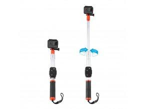 Plovoucí selfie tyč do vody pro akční kamery a ovladač 2